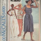 McCall's Pattern 5499--Misses' Jumpsuit and Hat--Misses' Size Petite