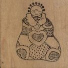 "DOLL IN SACK RUBBER STAMP--UNBRANDED--2"" X 2"""