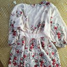 Beautiful floral embroidered silk dress size M/L