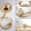 FULL BRASS 3/4 Bb SOUSAPHONE TUBA, NEW 2017 DESIGN, SUPERFAST USA SHIPPING