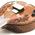 STUNNING CARVED ROSEWOOD FUSION OF ACOUSTIC SITAR & ELECTRIC GUITAR + DVD