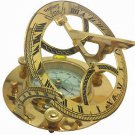 FREDERICK LANTHAM WEST, LONDON, MASSIVE 13 cm WHITE DIAL BRASS SUNDIAL COMPASS