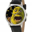 RARE VINTAGE 1990s SHREK THE OGRE ADULT SIZE BRASS WATCH UNUSUAL SHREK FONT DIAL
