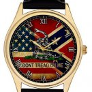 VINTAGE AMERICAN FLAG ART COLLECTIBLE 40 mm WRIST WATCH, DON'T TREAD ON ME!