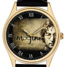 JOHN LENNON IMAGINE VINTAGE SEPIA PARCHMENT ART COLLECTIBLE 40 mm WRIST WATCH