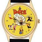 POPEYE THE SAILOR MAN VINTAGE COLLAGE ART BRIGHT COLORFUL COMIC ART WRIST WATCH