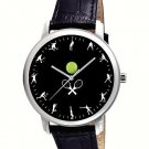 FANTASTIC LAWN TENNIS STROKES COLLAGE ART 40 mm COLLECTIBLE BRASS WRIST WATCH