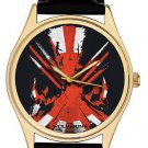 Symbolic Dark Crimson Postmodern Art Wolverine Collectible 40 mm Wrist Watch