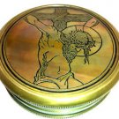 "FANTASTIC JESUS CHRIST CRUCIFIXION COLLECTIBLE SYMBOLIC ART 3"" BRASS COMPASS."