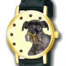 SCHNAUZER  - BEAUTFUL VINTAGE DOG PORTRAIT ART COLLECTIBLE UNISEX WRIST WATCH