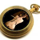 FASCINATING EROTIC EDWARDIAN VINTAGE ART NUDE CELLO PLAYER POCKET WATCH 17 JEWEL