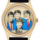 THE BEATLES, VINTAGE COBALT BLUE LARGE-SIZE COLLECTIBLE POP ART FAB FOUR WATCH