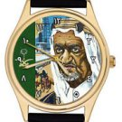 RARE KING FAISAL OF SAUDI ARABIA ISLAMIC COLLECTIBLE GOLD-WASHED WRIST WATCH