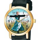 RARE ANTIQUE TEAL SKY BLUE JULIE ANDREWS SOUND OF MUSIC COLLECTIBLE WATCH
