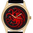 GAME OF THRONES HOUSE OF TARGARYEN STUNNING 40 mm DRAGON ART WRIST WATCH