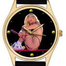 STUNNING EROTIC BABE LAWN TENNIS SEXY DIAL COLLECTIBLE PLAYBOY WRIST WATCH 40 mm