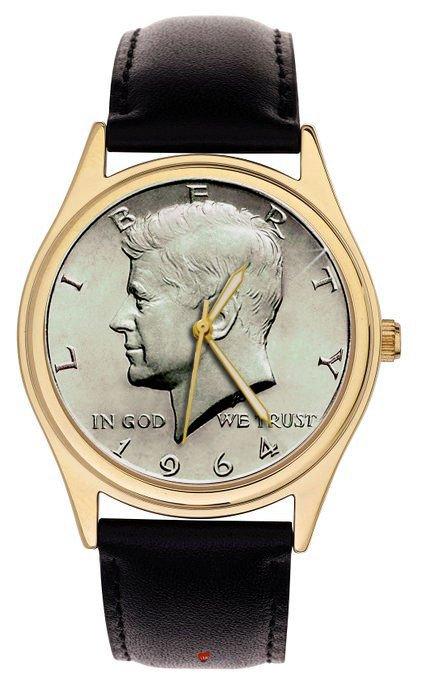 USA PRESIDENTIAL ART JOHN F. KENNEDY JFK MEMORIBILIA COLLECITBLE WRIST WATCH
