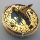 SHINY BRASS  POCKET WATCH  SUNDIAL COMPASS w PERPETUAL CALENDAR & WORLD TIME