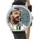 YASSER ARAFAT PLO REVOLUTIONARY PALESTINIAN ART COLLECTIBLE 40 mm  WRIST WATCH