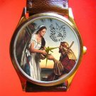 VINTAGE REBEKAH SOCIETY SYMBOLIC ODDFELLOWS ART 30 mm COLLECTIBLE WRIST WATCH