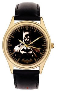 DARK GOTHIC ORIGINAL BATMAN SILHOUETTE ART LARGE 44 mm COLLECTIBLE WRIST WATCH