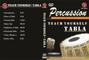 COMPLETE INDIAN TABLA DRUMS TRAINING COURSE 6 EDUCATIONAL REGION-FREE DVDs. RARE