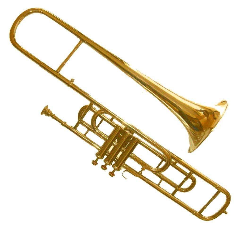CLASSIC GOLDEN BRASS 3-VALVE TENOR TROMBONE FOR TRUMPET CROSSOVER PLAYERS