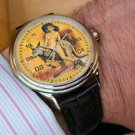 STUNNING SEXY 50s EROTIC AUSTRALIAN KANGAROO OUTBACK ART COLLECTIBLE WRIST WATCH