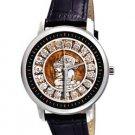 RARE MAYAN ASTROLOGY SYMBOLIC HISPANIC ART COLLECTIBLE 40 mm UNISEX WRIST WATCH