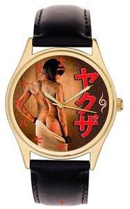 EROTIC ORIGINAL YAKUZA JAPANESE MAFIA TATTOO ART KANJI DIAL COLLECTIBLE WATCH