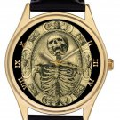 TEMPUS FUGIT VINTAGE SKULL SKELETON MASONIC ART SYMBOLIC FREEMASONRY WATCH
