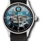 US NAVY USS NIMITZ AIRCRAFT CARRIER GROUP 40 MM COLLECTIBLE WRIST WATCH