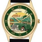 CUBA HAVANA REDISCOVERED VINTAGE GREEN CAR ENTHUSIAST CULT ART WRIST WATCH