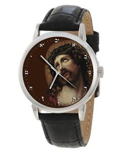 JESUS CHRIST CROWN OF THROWS, REMEMBER HIS PAIN, GOTHIC SYMBOLIC WRIST WATCH