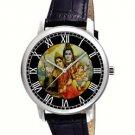 BEAUTIFUL SHIVA PARVATI  GANESHA HINDU DEVOTIONAL ART 40 mm UNISEX WRIST WATCH