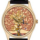GUSTAV KLIMT THE TREE OF LIFE, CONTEMPORARY ART COLLECTIBLE QUALITY WRIST WATCH