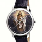 JESUS CHRIST, THE GOOD SHEPHERD, SYBOLIC CHRISTIAN ART COLLECTIBLE WRIST WATCH