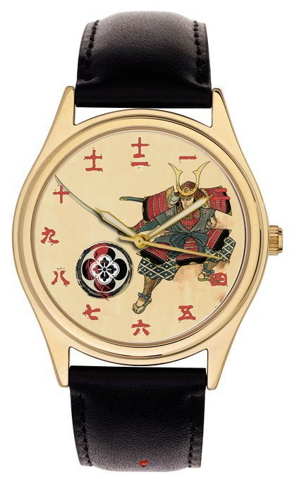 STUNNING ANTIQUE SAMURAI PARCHMENT ART KANJI DIAL JAPANESE WRIST WATCH
