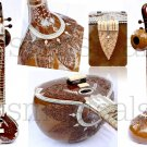 SITAR ROYAL BIRD TEAK WOOD PROFFESSIONAL QUALITY  WITH FIBERGLASS CASE GSM002GS#
