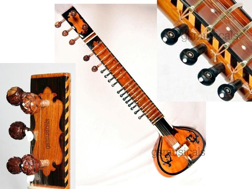 SITAR TAJ STANDARD BEAUTIFULLY DESIGNED WITH FIBERGLASS CASE GSM008 GTC
