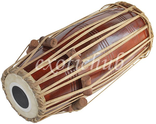 BUY NORTH INDIAN MRIDANGA DRUM~MADE WITH SHESHAM WOOD~MRIUDANG~MRIDANGAM~MRIDANG