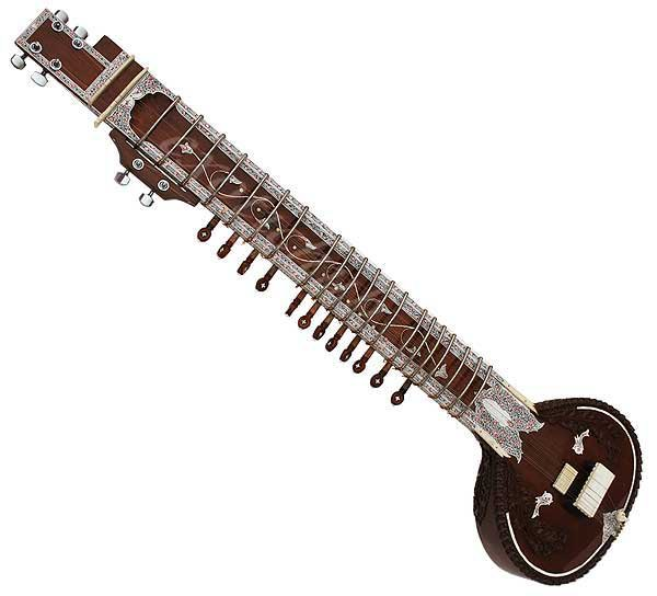 ELECTRIC SITAR~DESIGNER TUN WOOD~FREE!!! MIZRABS & STRING~