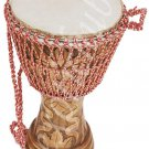 "DJEMBES DRUM~JEMBE~FINE CRAFT WORK~MANGO WOOD~ROPE TUNED~HEIGHT 24""~SKIN 13"""
