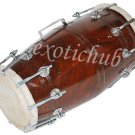 DHOLAK DRUM~BOLT TUNED~SHEESHAM WOOD~DHOLAKI~BHAJAN~KIRTAN~YOGA~EHS