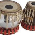 TABLA DRUM SET~PROFESSIONAL BRASS BAYAN~SHESHAM WOOD DAYAN~DOUBLE GAJRA SKIN