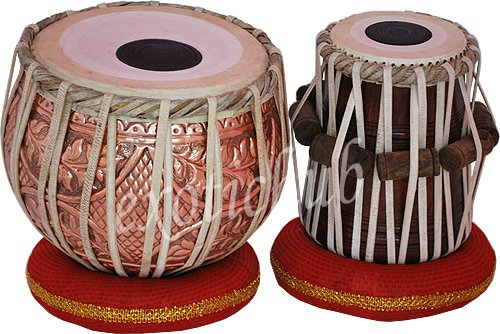 TABLA DRUMS SET~DESIGNER COPPER 2.5 KG BAYAN~SHESHAM DAYAN~PROFESSIONAL QUALITY