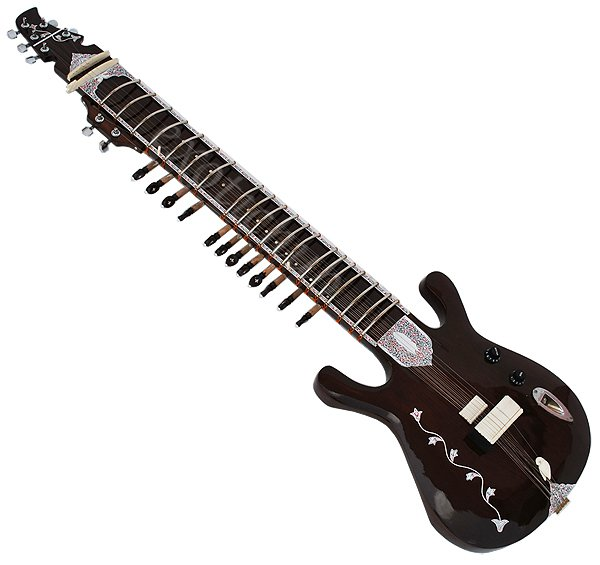 ELECTRIC SITAR~GUITAR TYPE~RAVI SHANKAR STYLE~FREE! STRING~AND~MIZRAB~SITAR EHS