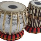 TABLA DRUMS SET~DESIGNER GANESHA COPPER 4 KG BAYAN~SHESHAM WOOD DAYAN~UNIQUE ART