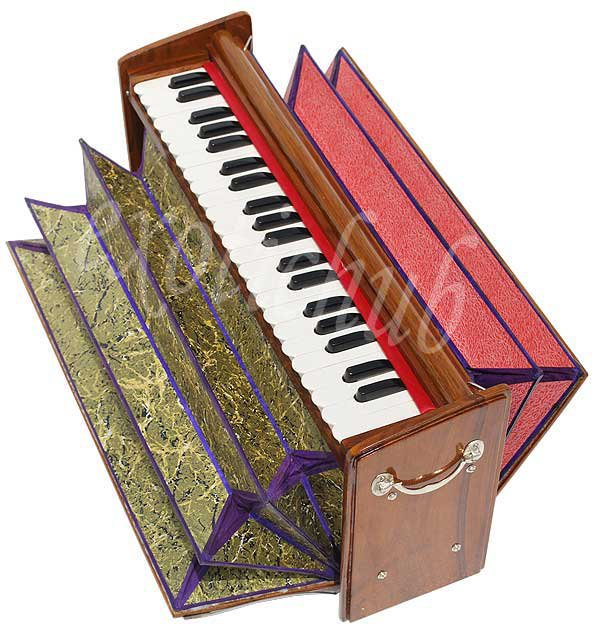 HARMONIUM~DULCETINA~TEAK WOOD~PETI~3½ OCTAVE~440 Hz~SHRUTI~YOGA~BHAJAN~KIRTAN~DJ