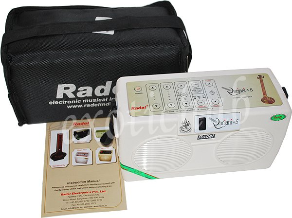 ELECTRONIC TANPURA~RADEL RANJANI +5 STRING~TAMBORA~TAMBURA~TANPURI~3 YR WARRANTY